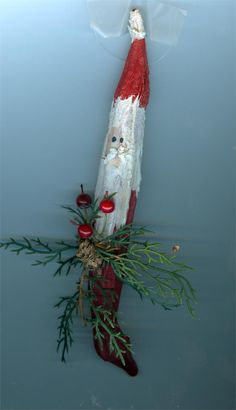 Okra Santa Christmas Pasta, Christmas Ornaments To Make, Santa Ornaments, Handmade Ornaments, Christmas Angels, All Things Christmas, Christmas Holidays, Christmas Crafts, Christmas Decorations