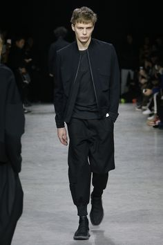 See the complete Y-3 Fall 2017 Menswear collection.  - Cuffs/Hem - Headphone port in storm flap - Chest Pockets