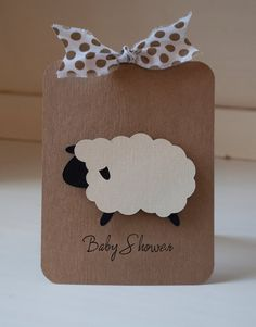 Lamb Baby Shower Invitations Invites Thank You by CardinalBoutique