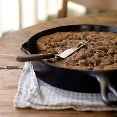 How to make chocolate chip cookies even better?  A cast iron skillet!!!  :)
