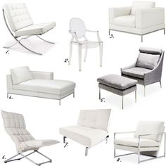 Tjusig ripustin valkoinen chaise longue scene and bedrooms for Louis ghost chair ikea