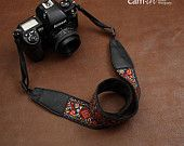 Cam-in -  National Wind Flower DSLR Camera Nikon Cannon Sony Christmas Gift Birthday Present Cotton Handmade Camera StraP-CAM7408