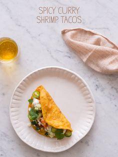 Spicy Curry Shrimp Tacos