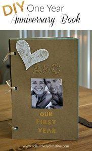 1 Year Countdown Wedding Gift : Year Anniversary Present, First Year Paper Wedding Anniversary Gift ...
