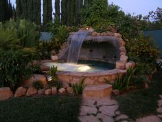 Hot Tubs Built in Waterfall | Austin Pool Builders - Austin Patio-Austin Outdoor Kitchens and BBQ ...