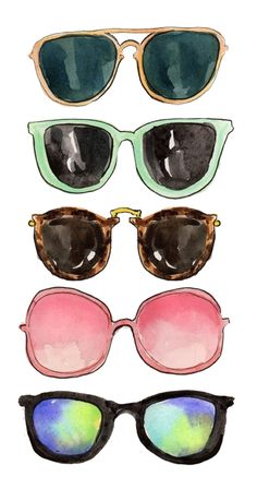 watercolor sunglasses