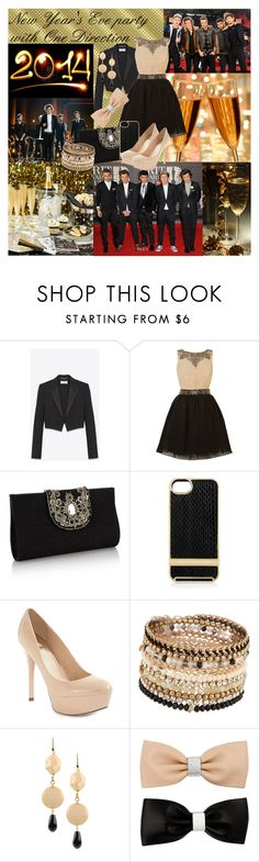 """""""New Year's Eve party with One Direction"""" by dea-styles1d ❤ liked on Polyvore featuring BRIT*, Yves Saint Laurent, Little Mistress, Monsoon, Linda Farrow, GUESS by Marciano, ALDO, NUR, MOOD and women's clothing"""
