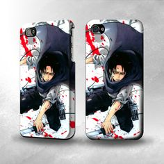 S1570 Attack on Titan Rivaille Levi Full Wrap Case Cover for Iphone 5, 5S, 5C, 4, 4S on Etsy, £12.23 [4S]