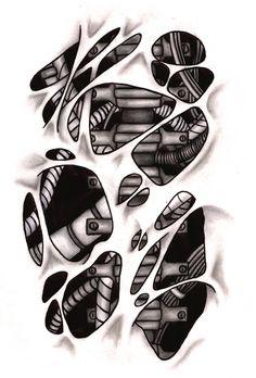 biomechanical tattoo design - Recherche Google