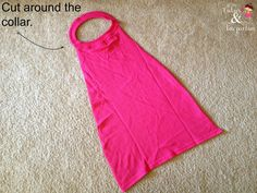 My daughter has been obsessed with super heroes lately! Here's an easy way to make your own super hero cape for pretend play.