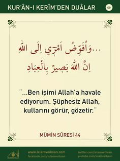 Learn Turkish Language, Prayer For The Day, Good Sentences, Life Sentence, Allah, Islamic Quotes, Prayers, Learning, Prophet Muhammad