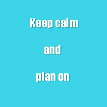 Avoid Wedding Planning Stress -- Keep Calm and Plan On