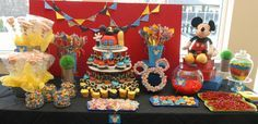 """Photo 8 of 23: Mickey Mouse Clubhouse / Birthday """"Mickey Mouse Clubhouse Candy Buffet""""   Catch My Party"""