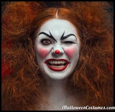 scary clown makeup for Halloween » Halloween Costumes 2013