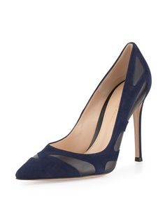 Bicolor Butterfly Combo Pump, Denim by Gianvito Rossi at Bergdorf Goodman.