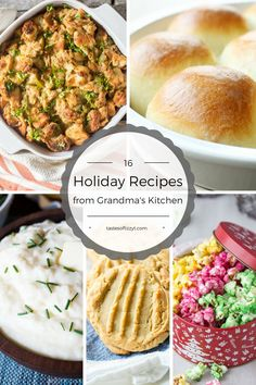 From bread to stuffing to pies to homemade noodles, find the best of Grandma's recipes for the upcoming Thanksgiving and Christmas holidays. Christmas Dishes, Christmas Brunch, Christmas Cooking, Christmas Holidays, Winter Holidays, Grandma's Recipes, Fall Recipes, Holiday Recipes, Holiday Meals