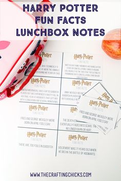 Make lunchtime fun for Harry Potter fans with these Harry Potter Fun Facts Lunchbox Printables. An easy way to get kids reading at lunch.