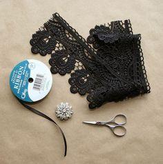 Gothic Choker DIY Supplies by Trinkets in Bloom