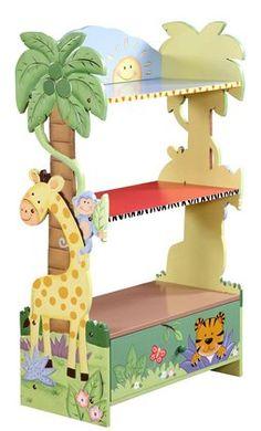 Teamson Children's Bookcase- Sunny Safari #DiaperscomNursery - Perfect for my baby's safari themed room