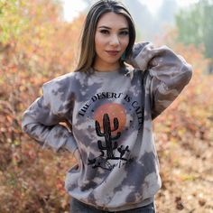 The Desert is Calling Sweatshirt – Ruby Rue Jewelry & Accessories Jewelry Accessories, Graphic Sweatshirt, Turquoise, Boutique, Sweatshirts, Sweaters, Shopping, Style, Fashion