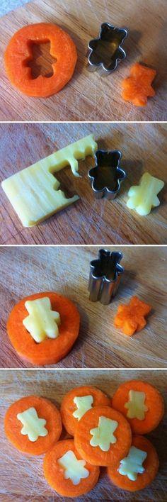 .zanahoria y queso