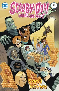 Scooby-Doo, Where Are You? Velma is forced to stay awake in a hospital bed for 24 hours, Scooby and the rest of Mystery Incorporated do their best to keep their resident super-sleuth. Classic Comics, Classic Cartoons, Cartoon Shows, Cartoon Pics, Comic Book Covers, Comic Books, Looney Tunes Wallpaper, Scooby Doo Mystery Incorporated, Scooby Doo Pictures