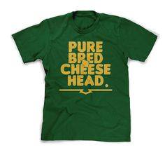 PUREBRED CHEESEHEAD signature tee from Packertown.com