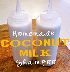 Homemade Coconut Shampoo Recipe 1/4 cup coconut milk (you can either make your own, or use store-bought) 1/3 cup liquid castile soap (like Dr. Bronner's) 1 tsp vitamin E, olive or almond oil 10 to 20 drops your choice of essential oils