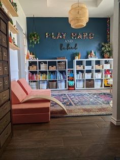 Living Room Playroom, Toddler Playroom, Kids Bedroom, Playroom Design, Playroom Decor, Playroom Ideas, Home Daycare, Toy Rooms, Big Girl Rooms