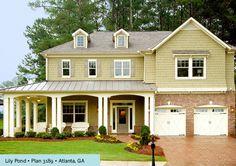 standing metal roof and garage doors - major appeal!