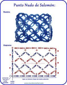 Junction of Solomon or Seafoam – crochet world - Diy And Craft Crochet Stitches Chart, Crochet Shell Stitch, Crochet Motifs, Crochet Diagram, Poncho Crochet, Irish Crochet, Crochet Lace, Crochet Bikini, Knitting Patterns