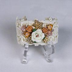 Lace Cuff, Bohemian Cuff, Shabby Chic Bracelet, Victorian Cuff, Vintage Bracelet. www.brownsugardesign.etsy.com