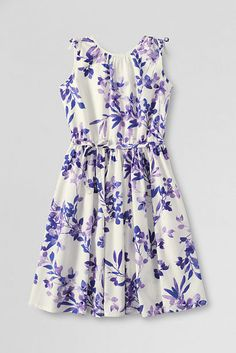 Girls' Tie Shoulder Woven Dress from Lands' End- Perfect spring dress for Millie.