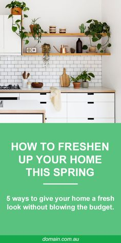 How to freshen up your home this spring, without blowing the budget Quirky Kitchen, Kitchen Decor, Diy Curtains, Home Reno, Home Hacks, Fashion Room, Making Ideas, Home Kitchens, Living Room Designs