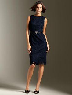 my dress in black with ribbon sash - Winter Lace Sheath