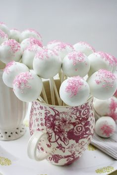 Pink Velvet Cake Lollipops - follow link to recipe