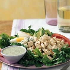 Main-Dish Salads under 300 Calories  | Cobb Salad with Green Goddess Dressing | MyRecipes.com