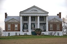 The Goode-Hall House is a plantation house in the Tennessee River Valley near Town Creek, Alabama. The house was built in 1830 by Turner Saunders, a Methodist minister planter originally from Brunswick Co., Virginia. Saunders sold it in 1844 to Freeman Goode. The house was later acquired by the Hall family. The house is built in a provincial interpretation of a Palladian three-part plan, possibly influenced by the Jeffersonian architecture of Saunders' native Virginia.