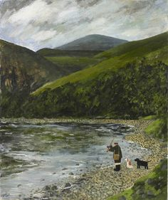 Gary Bunt | Down By The River - Down by the river There's a man with his dogs A rod and reel in his hand Time passes by as he casts out his fly In the hope there's a salmon to land.