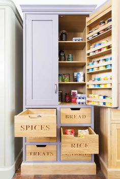 Using every available space for storage. See more of this kitchen at http://woodworkkitchens.co.uk