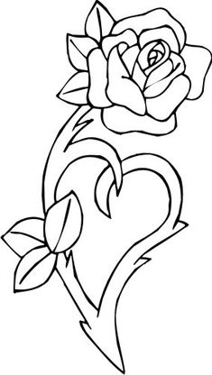 You May Enjoy tattoo sleeve By Using These Helpful Suggestions Heart Coloring Pages, Free Adult Coloring Pages, Disney Coloring Pages, Coloring Pages To Print, Coloring Books, Wood Burning Patterns, Wood Burning Art, Rose Stencil, Leather Tooling Patterns