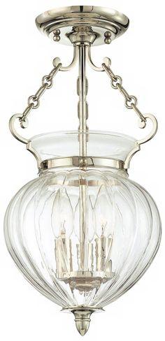 Hudson Valley Gardner Polished Nickel Ceiling Fixture - #U4298   Lamps Plus