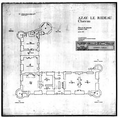 chateau d 39 azay le rideau plan of second floor architectural plans and drawings pinterest. Black Bedroom Furniture Sets. Home Design Ideas
