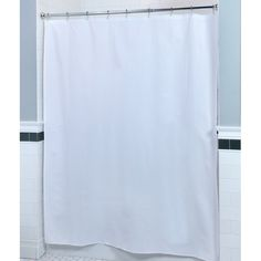 Frosted Clear Sweet Home Collection EZ Easy on 72 x 72 Shower Curtain 100/% Eva Durable Water Repellent Resistant with Built in Hooks Installation