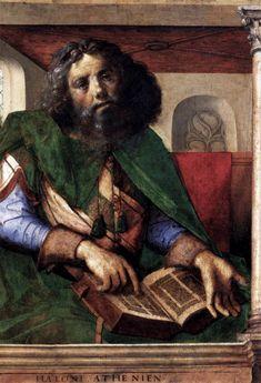 Spanish? - it is from the Spanish school  BERRUGUETE, Pedro  Plato  c. 1477  Wood, 101 x 69 cm  Musée du Louvre, Paris