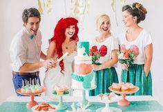 This Little Mermaid Fantasy Wedding Is Like Whoa