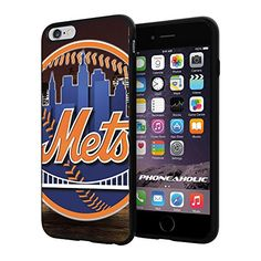 """MLB New York Mets Baseball,Cool iPhone 6 Plus (6+ , 5.5"""") Smartphone Case Cover Collector iphone TPU Rubber Case Black Phoneaholic http://www.amazon.com/dp/B00VSJ4XBO/ref=cm_sw_r_pi_dp_aw3nvb18HQ854"""
