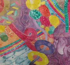 GCSE silk painting 'close up'