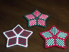 Plastic Canvas Christmas Stars Set of three by fuzzypixelcrafts                                                                                                                                                                                 More