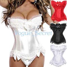 eba39a60b9 £3.99 GBP - Bustier Corset Top Burlesque Basque Costume Moulin Rouge Fancy  Corsets Plus Size  ebay  Fashion